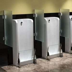 Healey & Lord Frosted Glass Urinal Divider